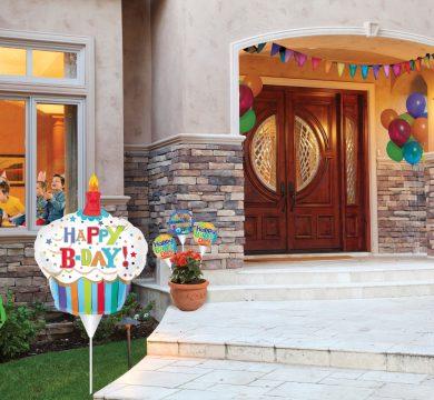 casa con addobbi per compleanno