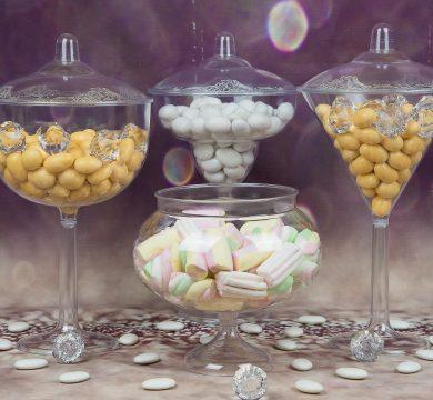 contenitori trasparenti confetti caramelle per matrimonio