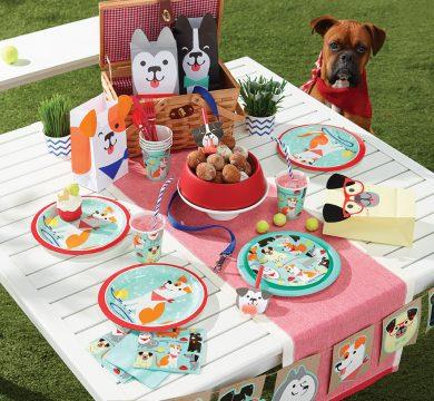 articoli per feste tema cani e gatti
