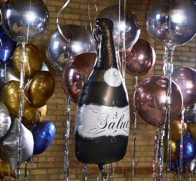 palloncino bottiglia per capodanno