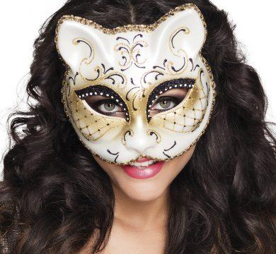 maschera felino carnevale