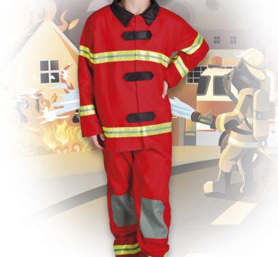 costume carnevale pompiere