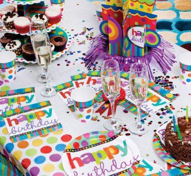 tavola colorata articoli compleanno adulti