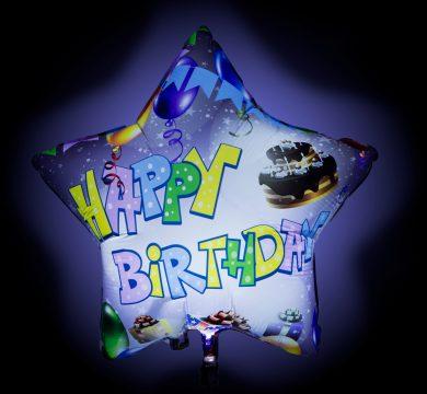 palloncino stella buon compleanno adulti