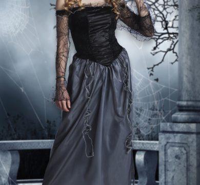 costume da strega per feste tema halloween