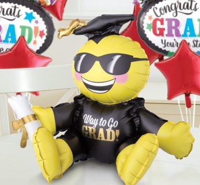 palloncino emoji per feste di laurea