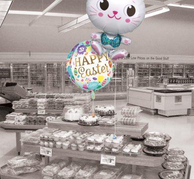 palloncini supermercato buona pasqua