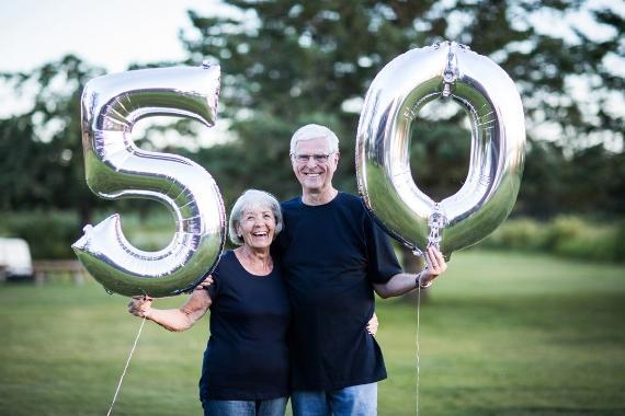 palloncini ricorrenze cinquant'anni