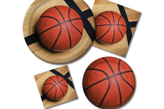 piatti e tovaglioli festa tema basket
