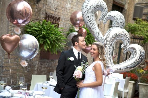 palloncini cuore per cerimonia matrimonio