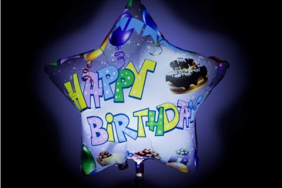palloncino stella buon compleanno