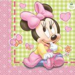 tovagliolo rosa baby disney