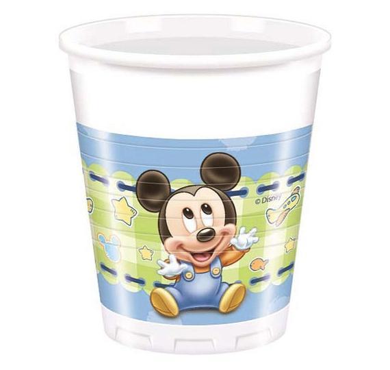 bicchiere carta topolino tema baby disney