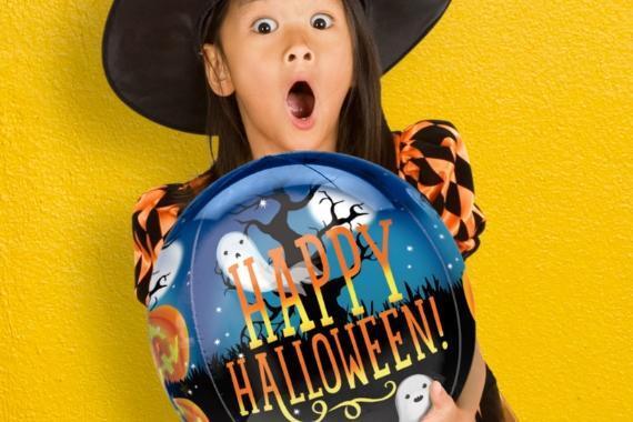 bambina palloncino happy halloween