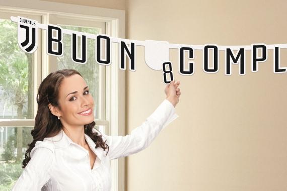 festone buon compleanno Juventus Football Club