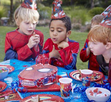 bambini spiderman festa a tema cartoni animati