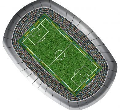 articolo stadio per feste tema calcio