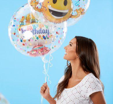 palloncini trasparenti tema emoji