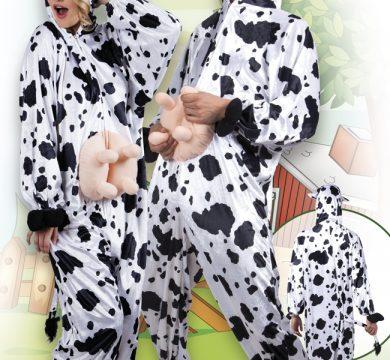 costumi mucca tema fattoria