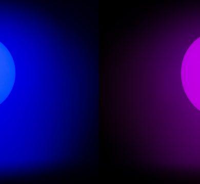 Palloncini led blu e viola