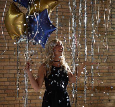 palloncini stelle tema laurea