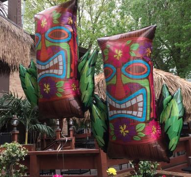 palloncini maschere feste tema hawaii