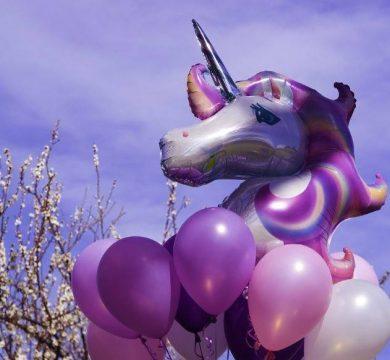 palloncino grande unicorno