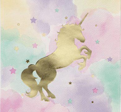 tovagliolo unicorno
