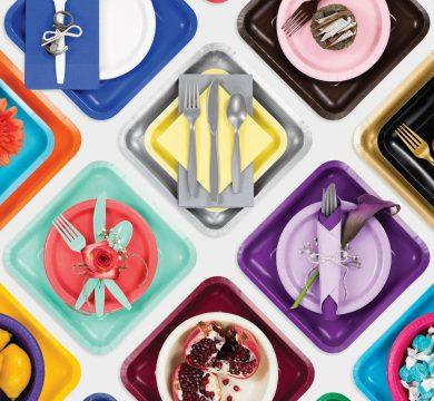 piatti bicchieri plastica colorati