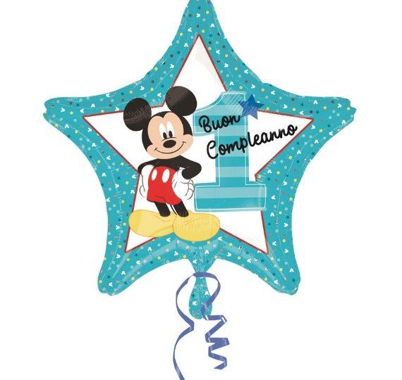 palloncino mickey mouse disney primo compleanno