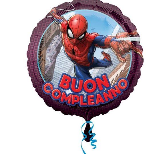 palloncino spiderman buon compleanno