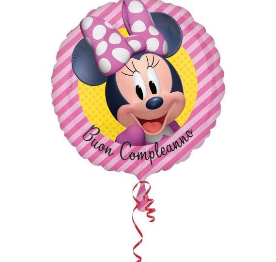 palloncino buon compleanno minnie disney