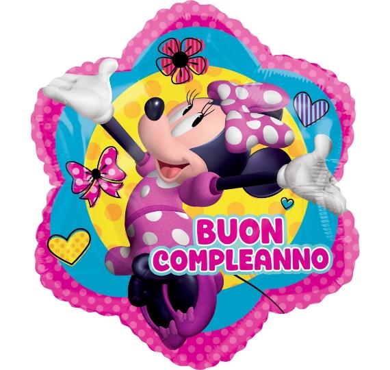palloncino foil buon compleanno minnie disney