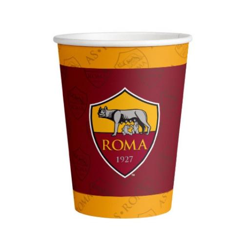 bicchiere carta squadra roma
