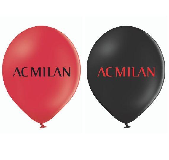 palloncini rosso e neri per feste a tema milan