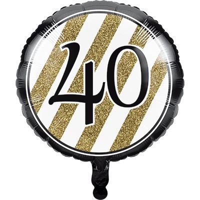 Palloncini quarantesimo oro e nero per feste