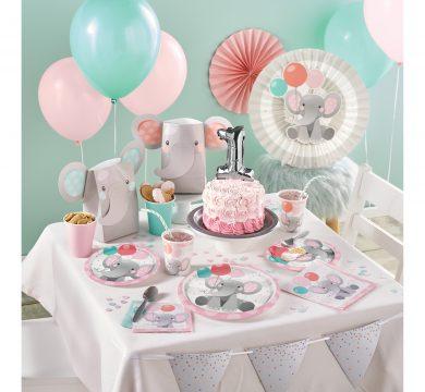 articoli party primo compleanno bimba