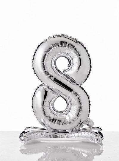 self-standing-balloon-numerati 8 argento