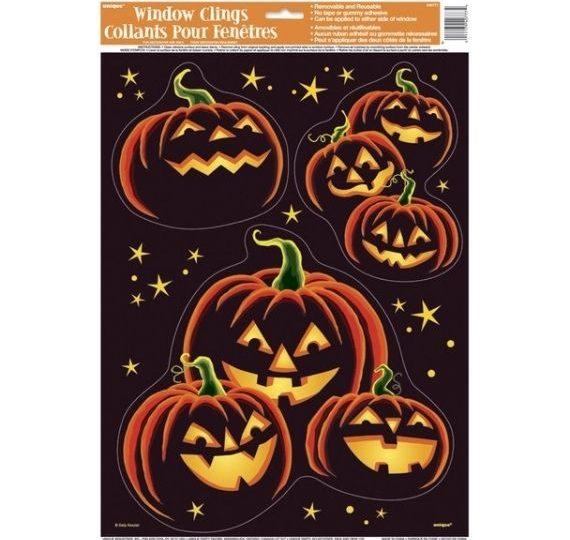 vetrofanie zucca halloween